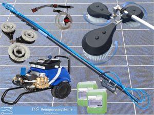 Photovoltaic-Cleaning-Set-Triple-Rotating-Wash-Brush-Telescopic-Lance
