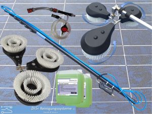 Photovoltaic-Cleaning-Triple-Wash-Brush-Telescopic-Lance