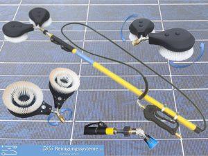 Solar-PV-Photovoltaic-Cleaning-double-Washbrush-rotating-Telescopic-Lance