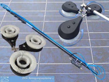 Solar-PV-Photovoltaic-Cleaning-triple-Washbrush-rotating-Telescopic-Lance